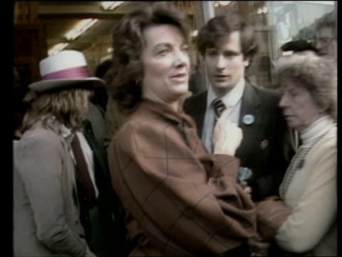 gary hart continues successful campaign before new hampshire primary gary hart pulling his trouser braces out and puts on coat from hart motorcade on... - 1984 stock videos & royalty-free footage