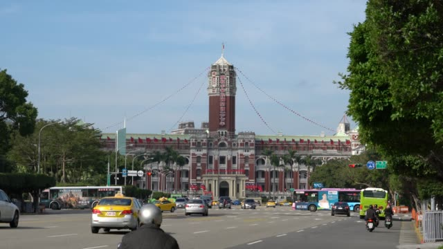 presidential office building, taipei taiwan - taipei stock videos & royalty-free footage