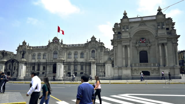 presidential palace (palacio de gobierno), lima, peru - lima peru stock videos and b-roll footage