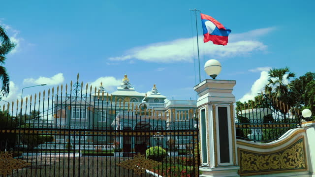 presidential palace, vientiane, laos - 1973 stock videos & royalty-free footage