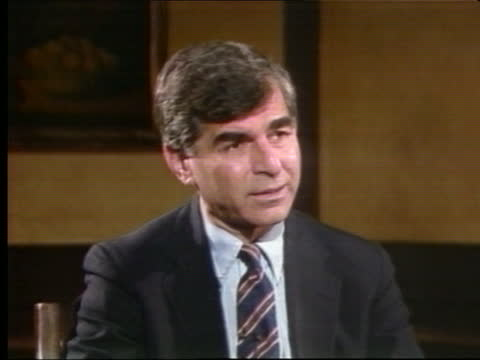 presidential primaries: california:; usa: california: los angeles: cms michael dukakis intvw sof - not happy with justice in northern ireland / hopes... - western usa stock videos & royalty-free footage