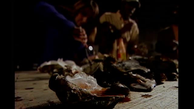 vídeos de stock, filmes e b-roll de race comes to fore in south carolina usa south carolina charleston smith participating in outdoor oyster feast vox pop south carolina voter group of... - eleição primária