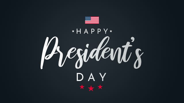 presidents' day animation with usa flag - us president stock videos & royalty-free footage