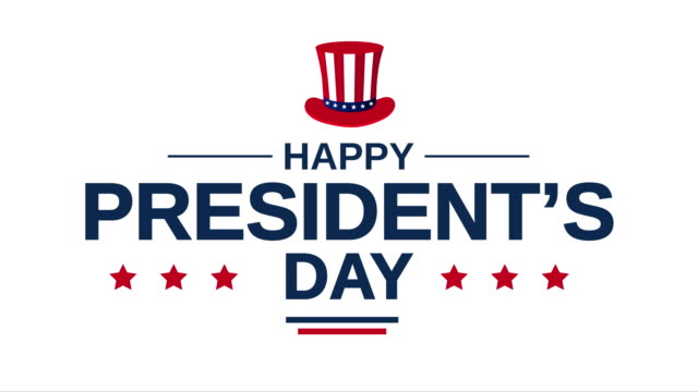 president's day poster on white background. 4k animation - president stock videos & royalty-free footage