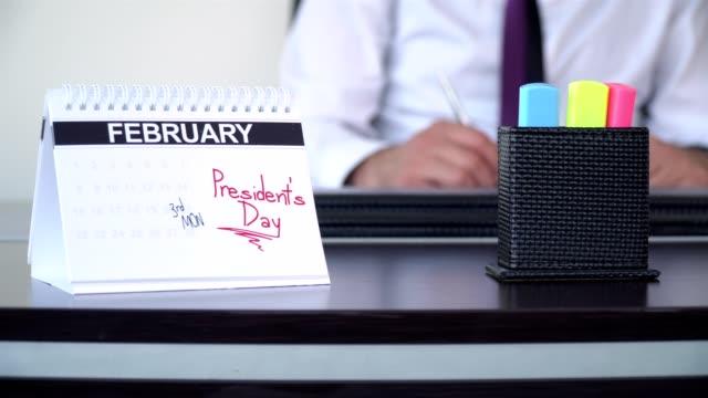 president's day - special days - abbigliamento da lavoro formale video stock e b–roll
