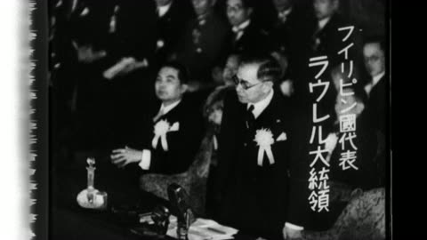 stockvideo's en b-roll-footage met presidents, prime-ministers and nation representatives speak at the greater east asia conference in tokyo, japan. - 40 seconds or greater