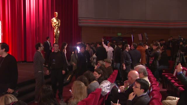 atmosphere press at the 85th academy awards nominations announcement in beverly hills 01/10/13 atmosphere press at the 85th academy awards nomi at... - samuel goldwyn theater stock videos & royalty-free footage