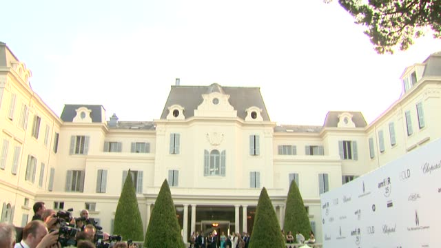 Press at the amfAR Gala Red Carpet Arrivals 64th Cannes Film Festival at Antibes