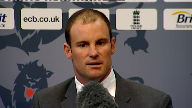 ECB press conf at Lords with Andrew Strauss and Alastair Cook Strauss SOT I've got some ideas of things I'd like to get involved in Would like some...