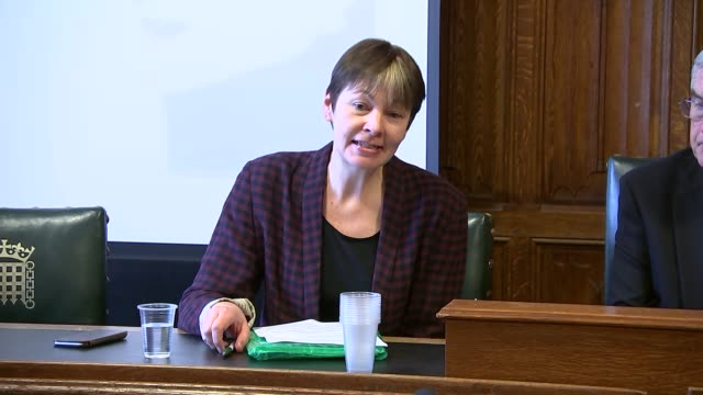 press conference and rally in support of 'heathrow 13' climate change protesters; england: london: houses of parliament: int caroline lucas mp... - pressekonferenz stock-videos und b-roll-filmmaterial