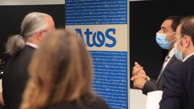 press conference at atos technology days 2021 on july 2 in bezons, france. at its annual atos technology days event, atos today announced the launch... - big data stock videos & royalty-free footage