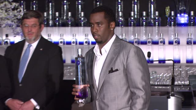 Press Conference at the Sean 'Diddy' Combs Announces New Business Venture With Ciroc Vidka at Stone Rose in New York New York on October 24 2007