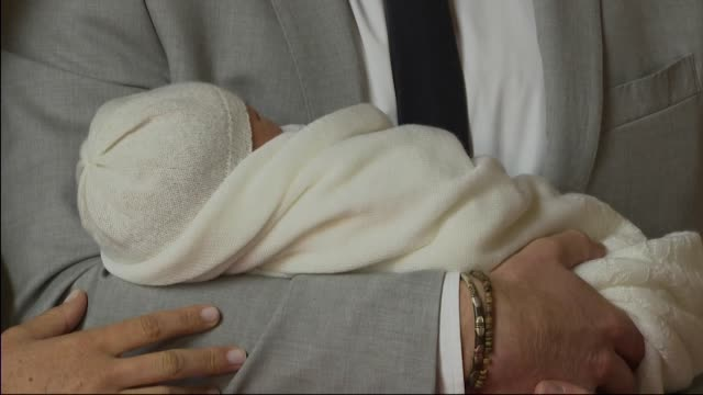 Press Conference Duke and Duchess of Sussex present their newborn baby boy Master Archie Harrison MountbattenWindsor to the world Meghan says about...