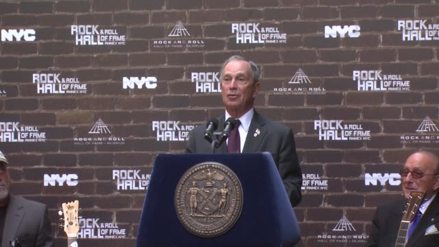 Mayor Bloomberg introduces the new Rock and Roll Hall of Fame in New York and what the new ANNEX has to offer to New York at the Rock and Roll Hall...