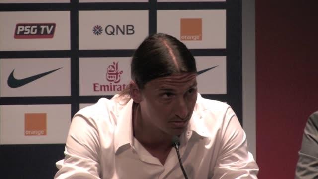Press Conference of Zlatan Ibrahimovic after signing at the Paris Saint Germain football club Zlatan Ibrahimovic press conference Part1 on July 18...