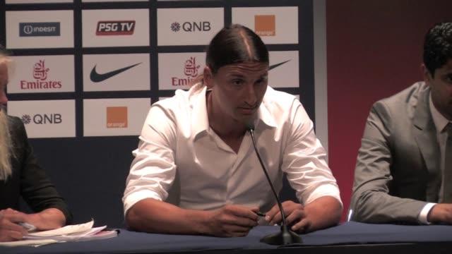 Press Conference of Zlatan Ibrahimovic after signing at the Paris Saint Germain football club Zlatan Ibrahimovic press conference Part2 on July 17...