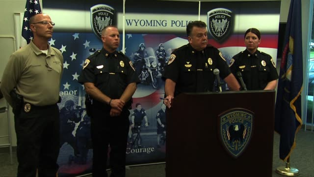press conference on brooke slocum and charles oppenneer murders - craigslist stock videos and b-roll footage