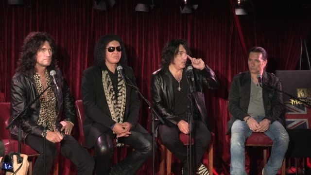 stockvideo's en b-roll-footage met press conference on past achievements kiss press conference on past achievements at dover st arts club on july 03 2012 in london england - gene simmons