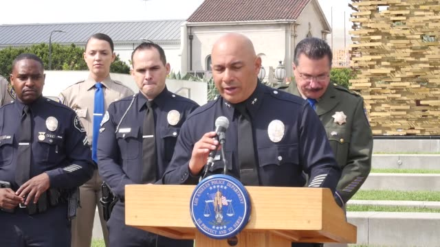 press conference on transportation accidents in los angeles - los angeles police department stock videos & royalty-free footage