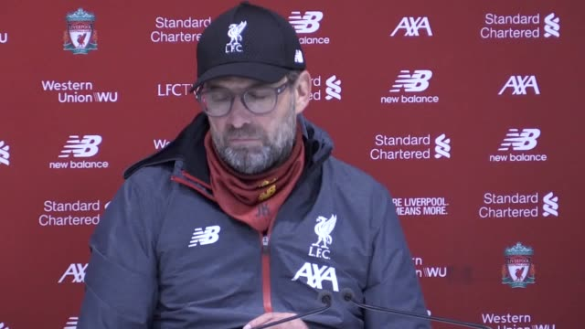 press conference quotes from liverpool manager jurgen klopp following the 1-0 win against wolves. he talks about how tough a game it was, the var... - var点の映像素材/bロール