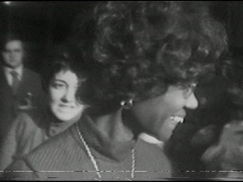 representative shirley chisholm's presidential campaign visit to xerox tower in midtown, rochester, ny december 6, 1971. - アメリカ黒人の歴史点の映像素材/bロール