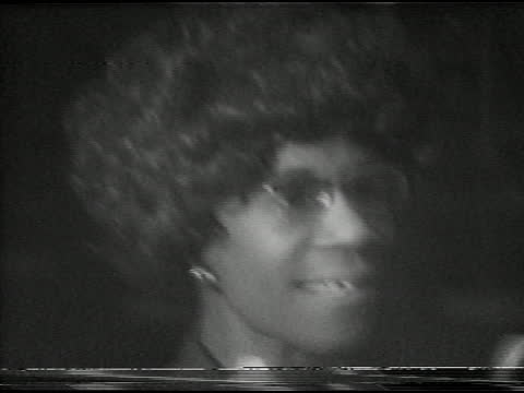 representative shirley chisholm's presidential campaign visit to xerox tower in midtown, rochester, ny december 6, 1971. chisholm talks about raising... - 連邦議会議員点の映像素材/bロール