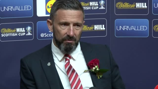 Press conference with Aberdeen boss Derek McInnes after the Hoops 21 Scottish Cup final win at Hampden