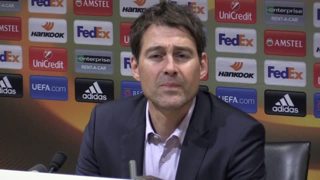 Press conference with Anderlecht manager René Weiler following the 21 Europa League quarter final second leg defeat to Manchester United He says...