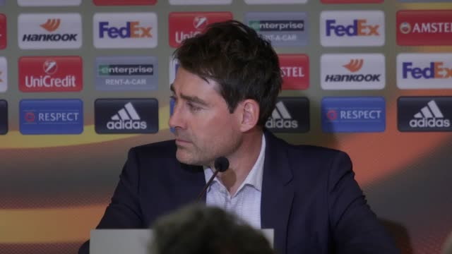 vidéos et rushes de press conference with anderlecht manager rene weiler after his side's 11 draw with manchester united in the europa league quarter final mourinho's... - quart de finale
