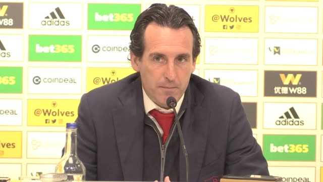 Press conference with Arsenal manager Unai Emery after his side's 31 loss to Wolves in the Premier League that saw them lose ground in the race for...
