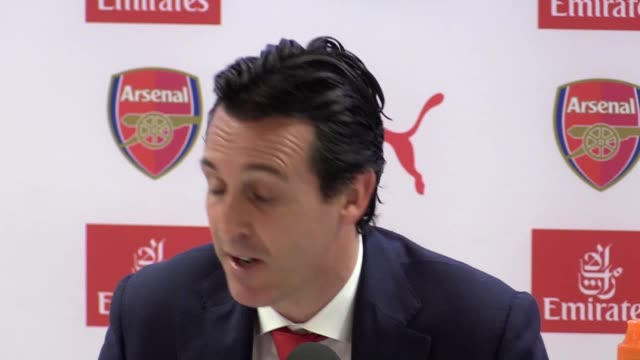 Press conference with Arsenal manager Unai Emery after the victory against Southampton