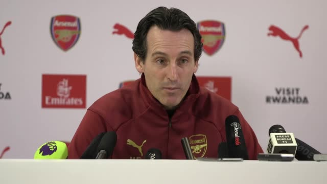 Press conference with Arsenal manager Unai Emery ahead of his side's London derby against West Ham in the Premier League