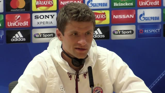 Press conference with Bayern Munich players Thomas Muller and Franck Ribery ahead of their game at Arsenal