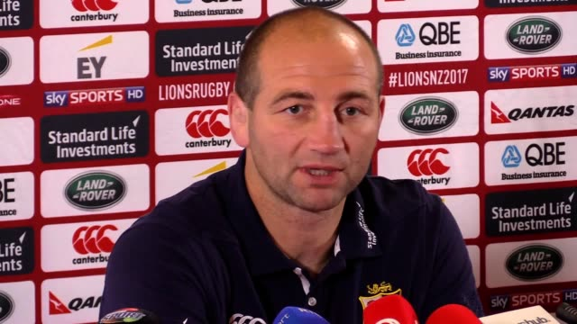 Press conference with British and Irish Lions assistant coach Steve Borthwick ahead of their match against the Hurricanes in Wellington Borthwick...