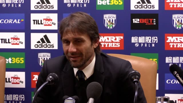 Press conference with Chelsea manager Antonio Conte after the victory against West Brom at The Hawthorns