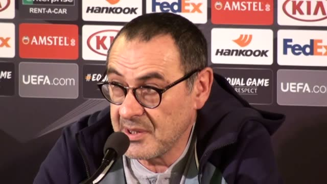 Press conference with Chelsea manager Maurizio Sarri ahead of his side's Europea League tie against Malmo in Sweden