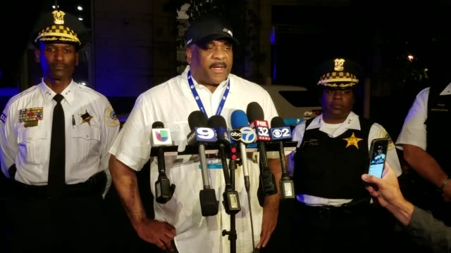 Press Conference with Chicago Police Superintendent Eddie Johnson about the Chicago police officer that was shot in an exchange of gunfire in...