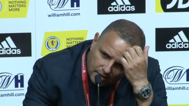 Press conference with Cyprus head coach Ran Ben Shimon after his side's 21 Euro 2020 qualifying defeat to Scotland at Hampden Park Glasgow
