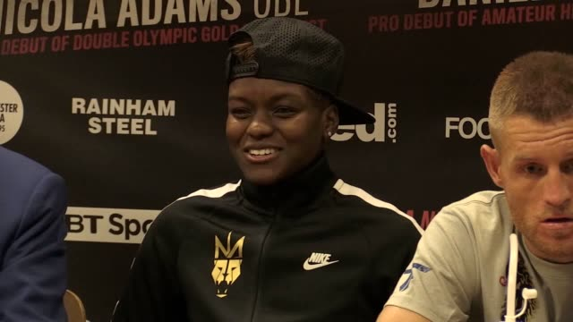 Press conference with double Olympic champion boxer Nicola Adams and promoter Frank Warren after she marked her professional debut with a unanimous...