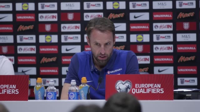 Press conference with England manager Gareth Southgate and defender Phil Jones ahead of the World Cup Qualifier against Slovakia Southgate says the...