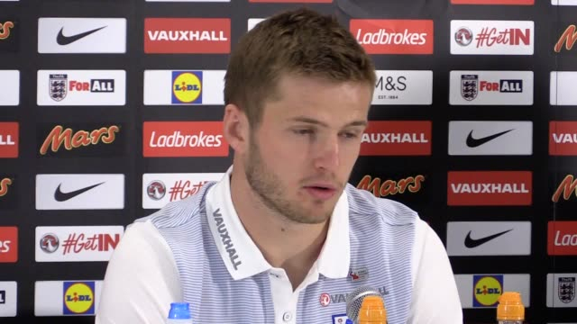 Press conference with England midfielder Eric Dier ahead of Sunday's World Cup qualifier against Lithuania