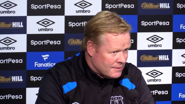 Press conference with Everton manager Ronald Koeman ahead of their first match of the Premier League season against Stoke Koeman talks about attempts...