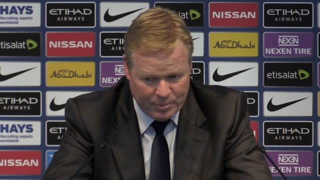 Press conference with Everton manager Ronald Koeman following his side's draw against Manchester City in the Premier League