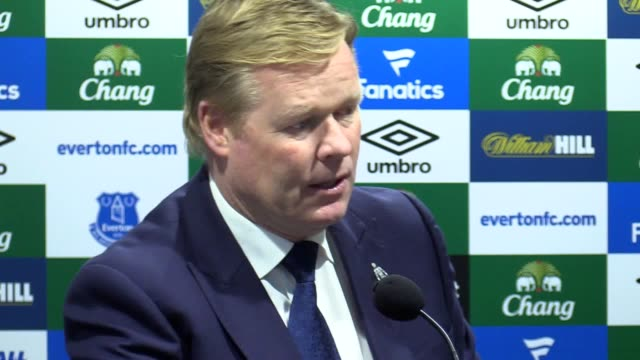Press Conference with Everton manager Ronald Koeman following the victory over West Brom 30 in the Premier League