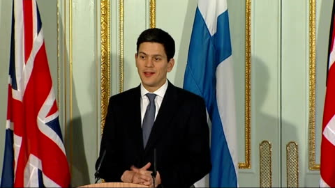 stockvideo's en b-roll-footage met press conference with foreign secretary and finnish foreign minister; question - i have a question for the foreign secretary. russia has proposed a... - 40 seconds or greater