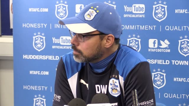 press conference with huddersfield town manager david wagner ahead of the fa cup tie against manchester city. - huddersfield town football club stock videos & royalty-free footage