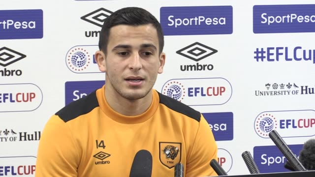 Press conference with Hull City defender Omar Elabdellaoui ahead of the EFL Cup semi final second leg tie against Manchester United