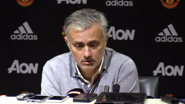 Press conference with Man United manager Jose Mourinho after their 10 victory against Tottenham