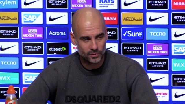 press conference with manchester city manager pep guardiola ahead of the carabao cup semifinal second leg match against burton albion - semifinal round stock videos & royalty-free footage