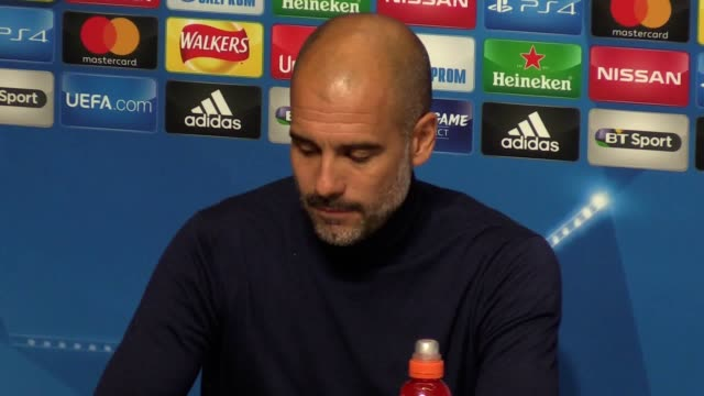 Press conference with Manchester City manager Pep Guardiola ahead of their Champions League Group F game against Shakhtar Donetsk